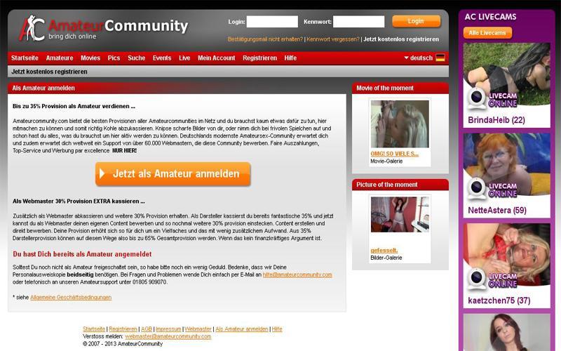 Amateurcommunity Geld verdienen